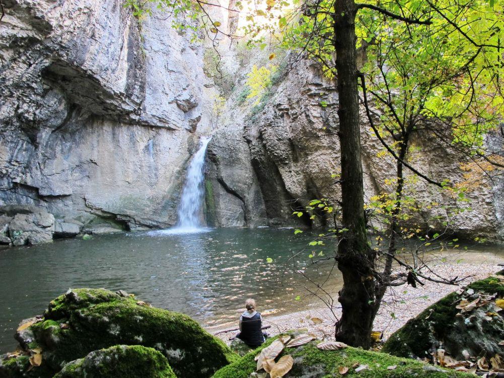 Waterfall under the rocks - Emen Canyon