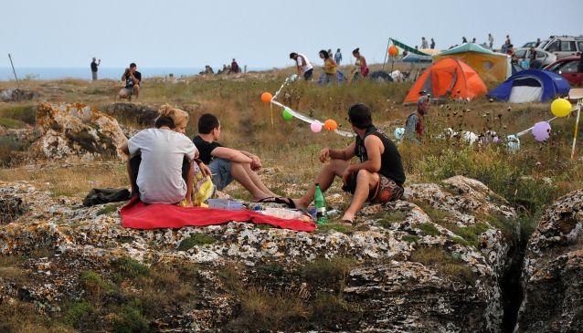 Camping on the Bulgarian Coast