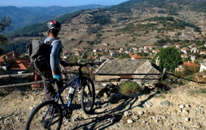 Biking through Bulgarian mountains