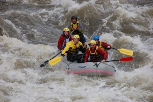 Rafting in the wild waters of Struma river