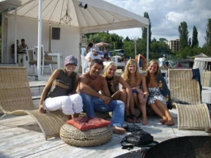 Students from the USA, Cabacum beach Varna