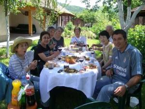 Japanese group, at Papa Bear's in Oreshak village