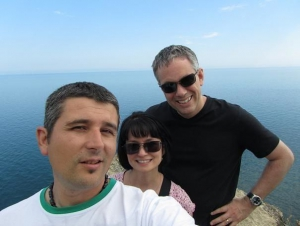 Keith and Sue from the USA, northern Black Sea coast