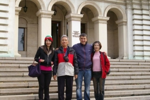 Kuo's family from Taiwan, in Sofia