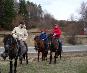 Riding horses with two Canadian sisters