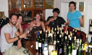 The tasting experience - all these bottles, 100% Bulgarian drink