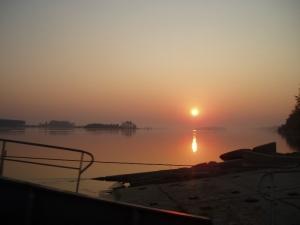 Danube river sunrise by C.Green