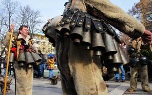 Parade of traditional Mummers (Kukeri)