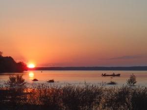 Sunset Danube River by D.Bibishkov