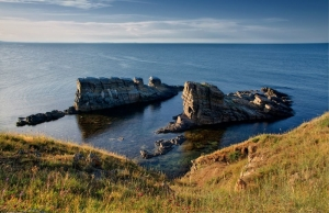 The rock ships at Sinemorets by P.Ivanova