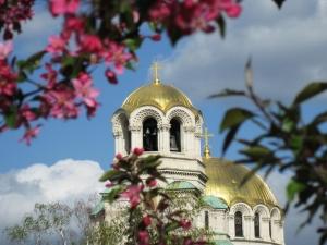 View to Al.Nevski Cathedral in Sofia