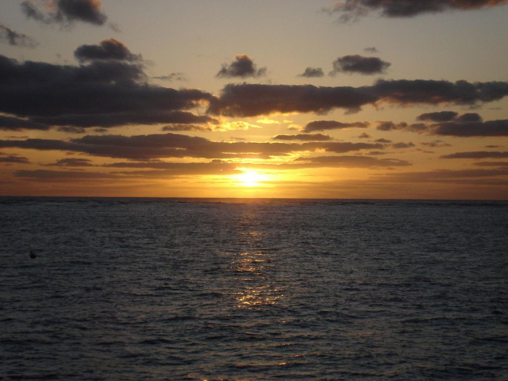 Sunset at The Great Barrier Reef