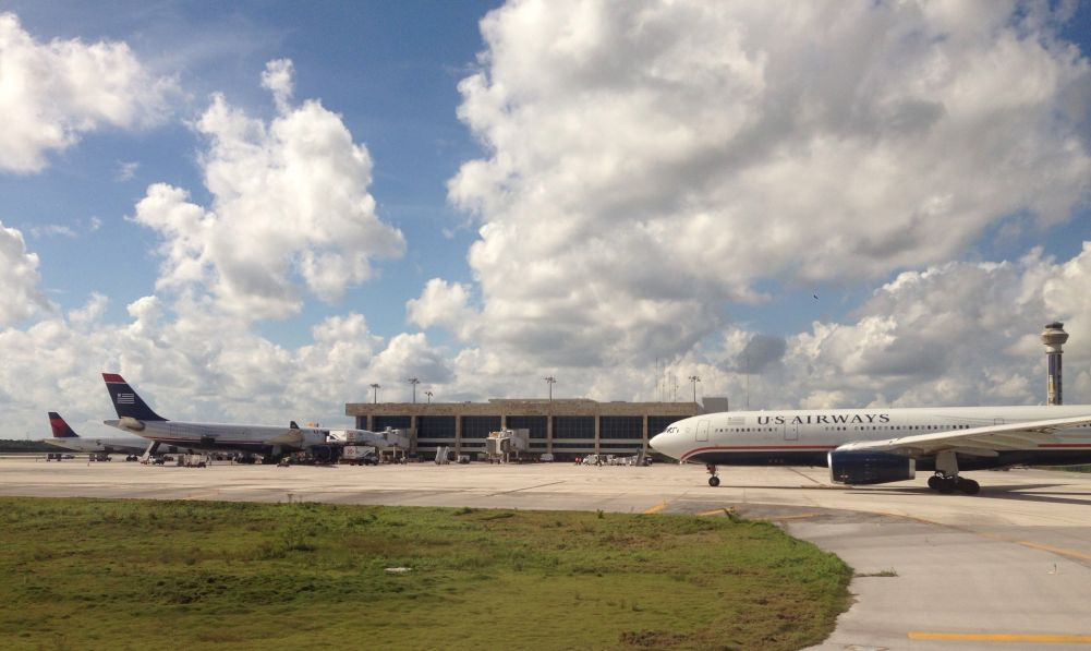 US Airways at the Cancun Airport