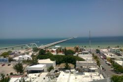 Progreso port and pier