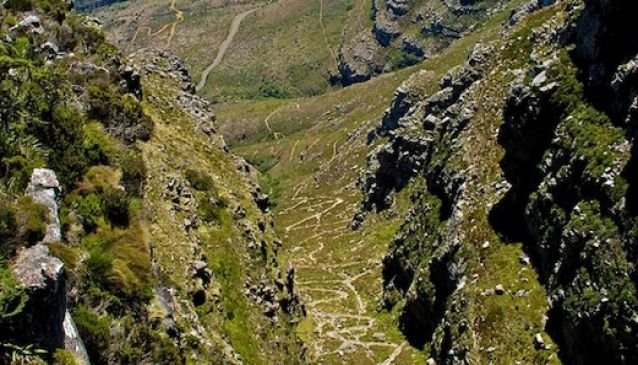 Platteklip Gorge to the top of Table Mountain