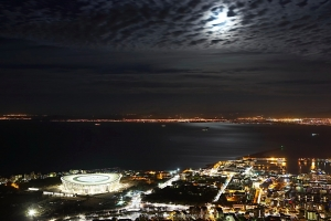 Moonlight over Cape Town Stadium