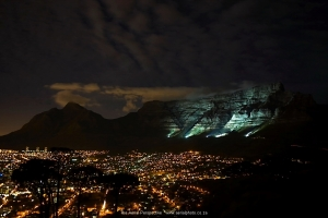 Table Mountain Lights at night