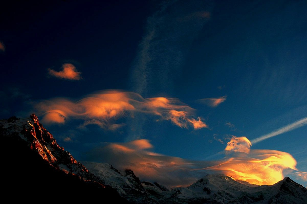 Sunset over Mont Blanc Massif