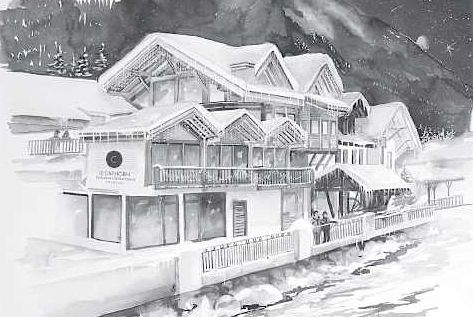 The new Cap Horn restaurant and bar in Chamonix