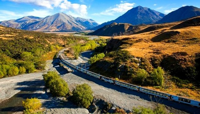 On Board The TranzAlpine Railway