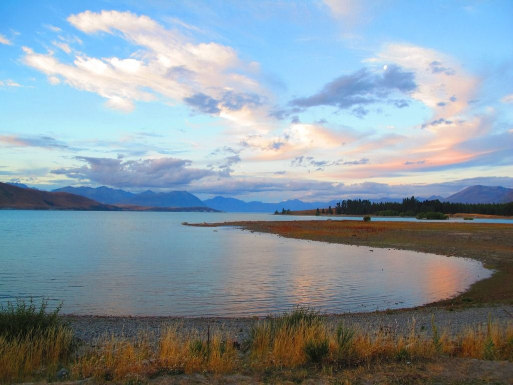 Evening Sunset at Lake Tekapo