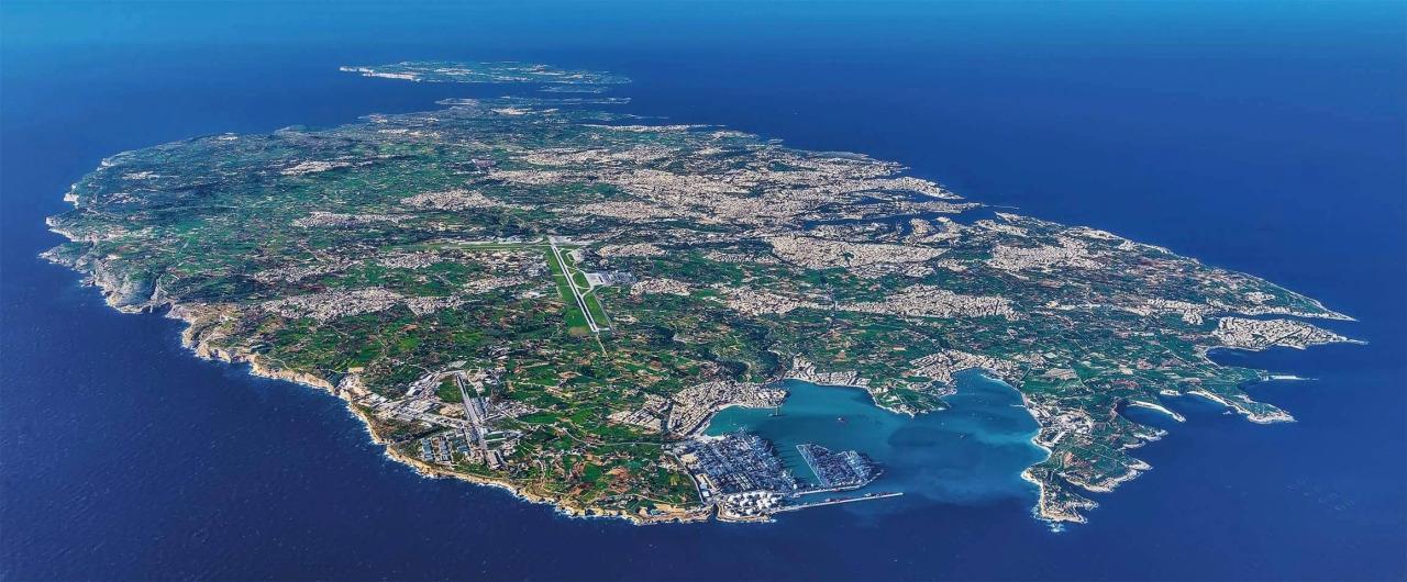 Comino Island Malta Map