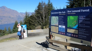 Start of Queenstown Bike Park