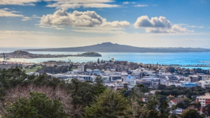 Mount Eden View Of Rangitoto Island