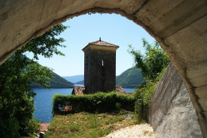 The Old Bell Tower in the Monastery, Perast