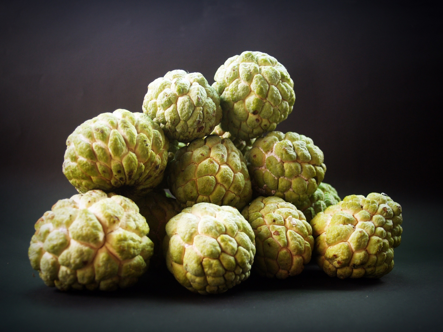 Custard Apple is almost reptilian scale-like skin