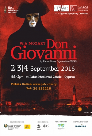 18th Pafos Aphrodite Festival presents Don Giovanni
