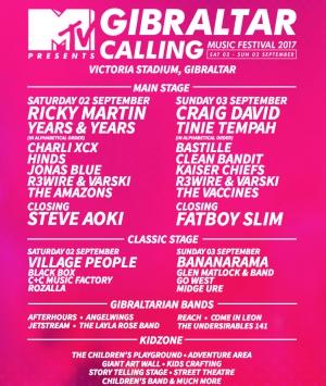 MTV Gibraltar Calling Music Festival