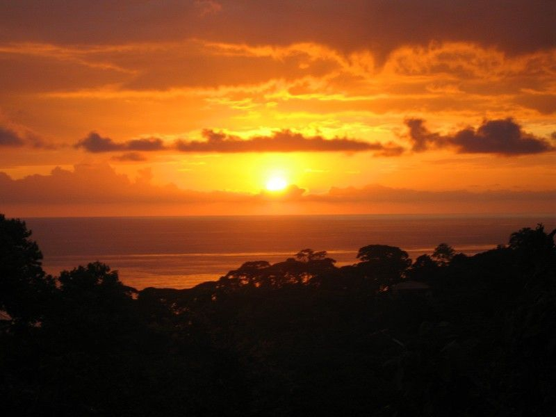 The Costa Rican sunset