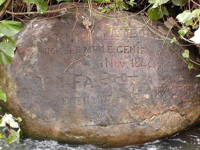 Rock Carved in 1846