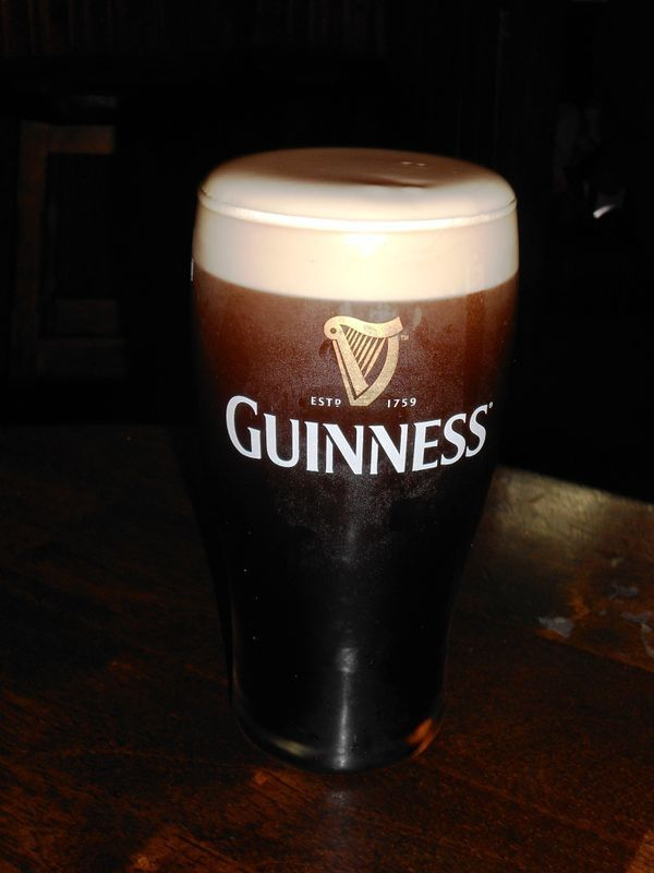 Our very first Guinness