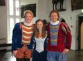 Two minstrels and a fair maiden