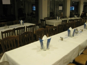The restaurant indoors