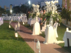Wedding at the outside area