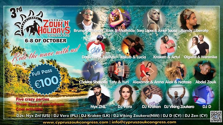 3rd Cyprus International Zouk'n'Holidays Congress