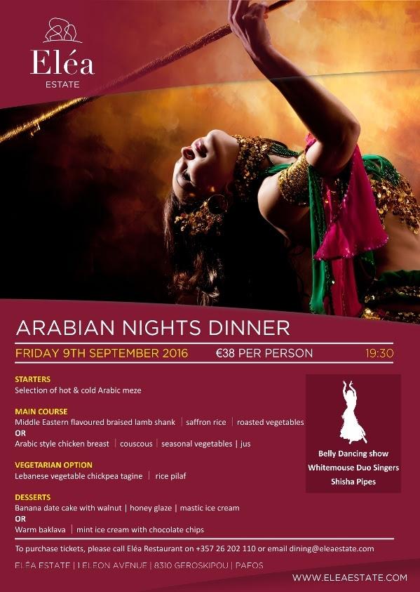 Arabian night dinner