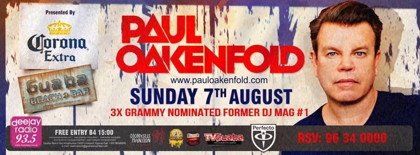 Paul Oakenfold @ Guaba Beach Bar in Limassol, Cyprus