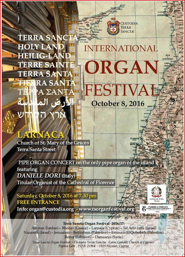Pipe Organ Recital in Larnaca with Daniele Dori from the Cathedral of Florence