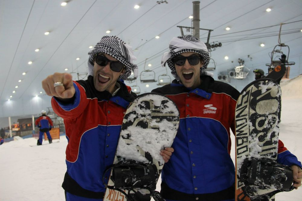 Alex and Marko hit the slopes of Ski Dubai