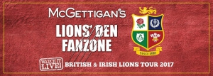 Lions' Den Fanzone at McGettigan's JLT - Watch all matches LIVE!
