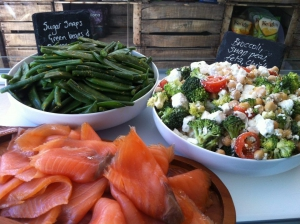 Cracked Nut - Salads and Smoked Salmon
