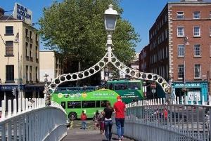 Hop-on Hop-off Bus Tour - passing the Ha'penny Bridge