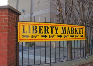 Liberty Market - just follow the sign (at the corner of Swift's Alley and Francis Street)