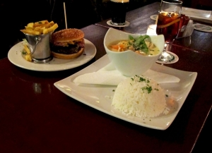 Two Sisters - Great Burgers and the famous Thai Green Curry