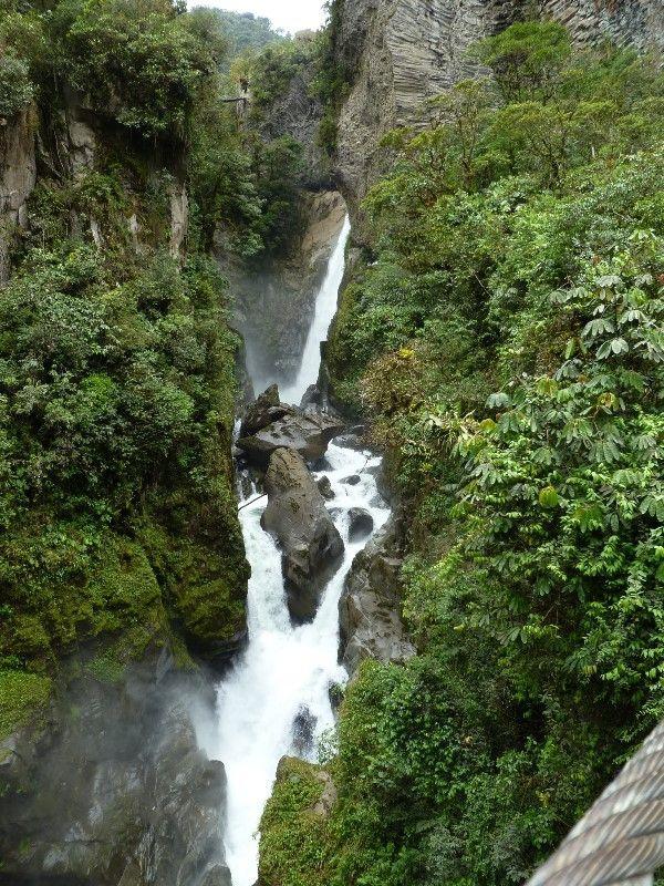 Pailón del Diablo Waterfall, Baños-Puyo Route