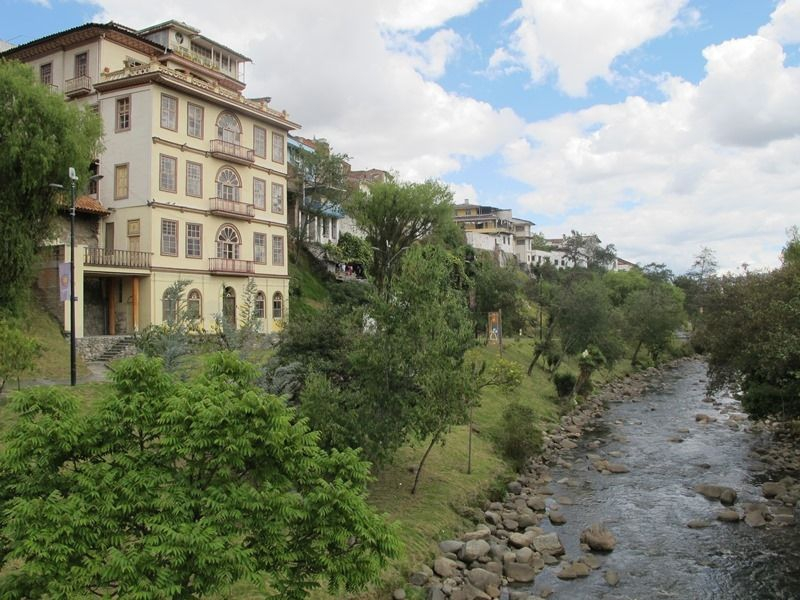 Cuenca Ecuador, El Barranco overlooking the Tomebamba river